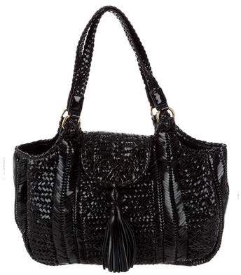 Anya Hindmarch Neeson Woven Patent Leather Tote