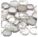 Lillian Rose 45-Piece Mixed Glass Signing Stones, Silver