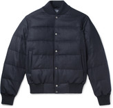 Thom Sweeney - Quilted Wool and Cashmere-Blend Down Bomber Jacket