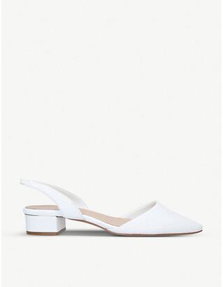 Aldo Anathana slingback leather block-heel courts