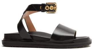 Marni Ankle-strap Leather Sandals - Womens - Black