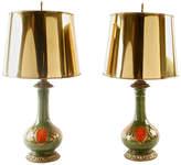 One Kings Lane Vintage,  Lamp, Green/multi/Shade, Gold, In Stock