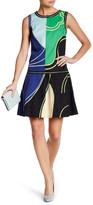 Vivienne Tam Wave Color Block Flare Dress