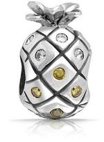 Bling Jewelry Cubic Zirconia Sterling Silver Pineapple Fruit Bead Charm Fits Pandora