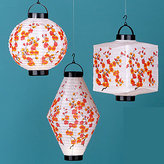 Cherry Blossom Battery-Operated Lanterns Set of 3