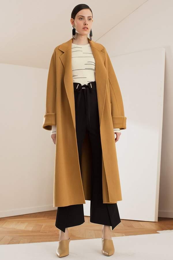Genuine People Wide Sleeve Wool Blend Coat