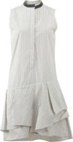 Brunello Cucinelli Striped Gathered Bottom Dress