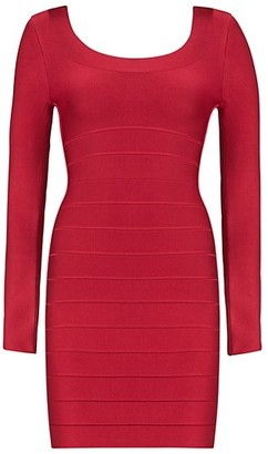 Herve Leger Icon Bandage Scoopneck Mini Dress