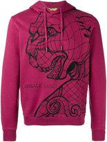 Versace tiger print hooded sweatshirt
