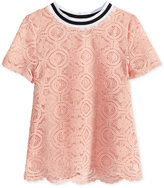 Tinsey Scalloped Lace T-Shirt, Big Girls (7-16)