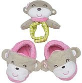 Carter's Monkey Rattle and Booties Set