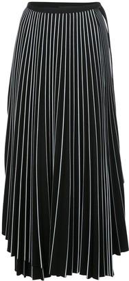 Proenza Schouler Asymmetric Pleated Striped Skirt
