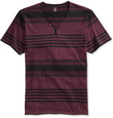 INC International Concepts Men's Chillin Y-Neck Striped T-Shirt, Only at Macy's