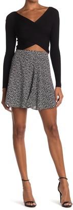 Socialite Floral Print Skater Skirt
