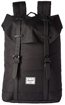 Herschel Supply Co. Kids Retreat Youth (Little Kids/Big Kids) (Black/Black Rubber) Backpack Bags