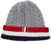 Thom Browne Aran Cable Striped Beanie Hat