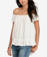 Denim & Supply Ralph Lauren Crepe Off-The-Shoulder Top