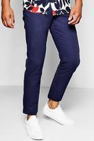 boohoo NEW Mens Straight Leg Chino With Stretch in