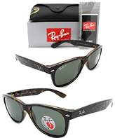 Ray-Ban Womens Polarized UV Protection Wayfarer Sunglasses Brown