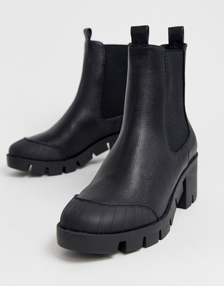 ASOS DESIGN Remy chunky chelsea boots in black