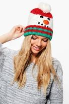 Boohoo Zoe Light Up Snowman Pom Beanie Hat