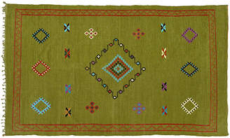 "One Kings Lane Vintage Moroccan Cactus Silk Rug - 8'2"" x 4'8'' - The Moroccan Room - green/multi"