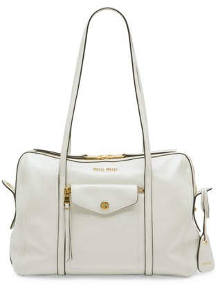 Miu Miu Grace Lux Leather Tote