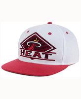 adidas Miami Heat White Diamond Snapback Cap