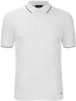 Hugo Delorian Tipped Polo Shirt White