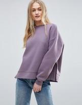 Asos PREMIUM Sweatshirt With Side Zip Detail