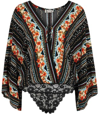 Free People For You black printed bodysuit