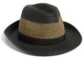 Halogen Woven Stripe Panama Hat