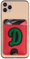 Laines London Customised Leather Card Holder Sticker - Red / Green