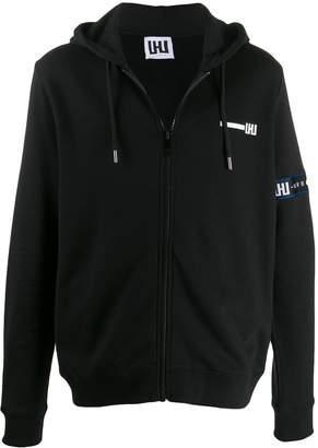 Les Hommes Urban logo appliqué zip hoodie