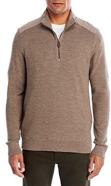 Vineyard Vines Grant Merino Wool Half Zip Sweater