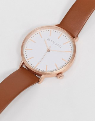 Brave Soul mesh watch with white dial