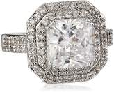"Kenneth Jay Lane CZ by Classic"" Emerald Cubic Zirconia Double Tiered Ring, Size 6, 6 CTTW"