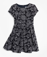 Brooks Brothers Girls Embroidered Ruffle Dress