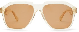 Bottega Veneta Oversized Acetate Sunglasses - Clear