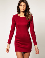 Asos Body-Conscious Dress With Long Sleeves
