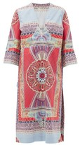 Etro Printed Cotton Kaftan - Womens - Pink Multi