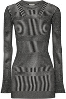 By Malene Birger Aliasi Metallic Ribbed-knit Sweater - Silver
