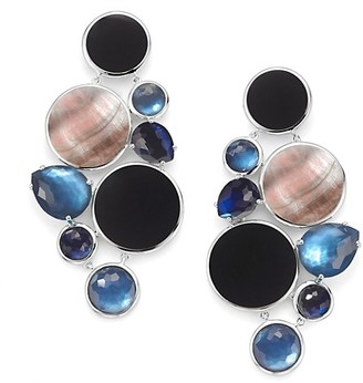 Ippolita Wonderland Sterling Silver, Shell & Multi-Stone Chandelier Earrings