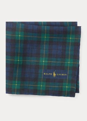 Ralph Lauren Tartan Linen Pocket Square