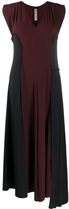 Marni Two-Tone Panelled Long Dress