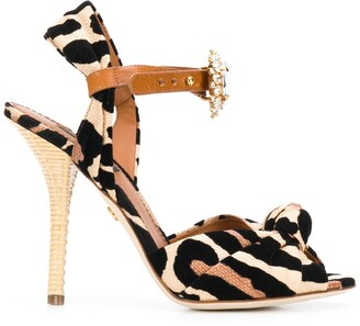 Dolce & Gabbana Jewelled Leopard Print Sandals