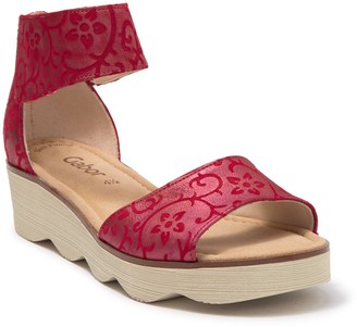 Gabor Printed Leather Ankle Strap Sandal