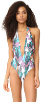 MinkPink Texta Tropical Plunge One Piece
