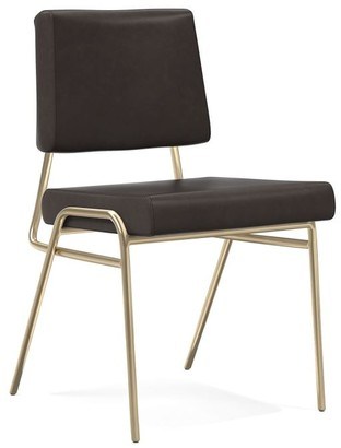 west elm Wire Frame Leather Dining Chair