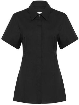 Esse Studios Cotton Short Sleeved Cinched Waist Shirt